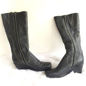 Gianni Bini heel knew high boots stitch pattern 8M